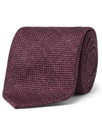 Drakes Cravate en soie et lin mélangés en laine flammée de 8 cm