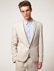 Asos Slim Fit Linen Suit Jacket