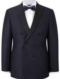 Austin Reed Navy Double Breasted Dresswear Jacket