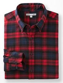 Uniqlo Men Flannel Check Long Sleeve Shirt