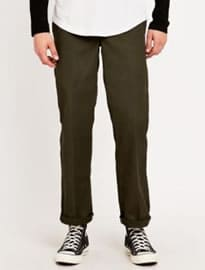 Dickies 873 Olive Green Slim Straight Work Trousers