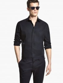 He By Mango Classic-fit Stretch Cotton Tailored Shirt