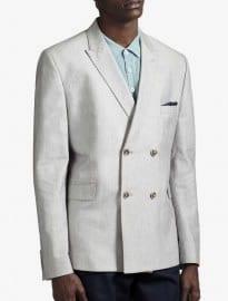 Burton Light Grey Double Breasted Blazer