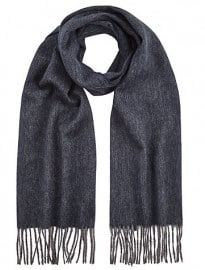 John Lewis Wool Herringbone Scarf Charcoal