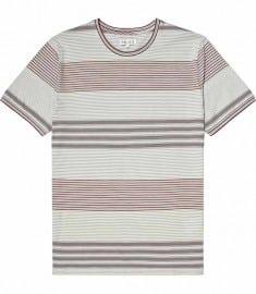 Reiss Chingley Short Sleeve Stripe Crew Rose