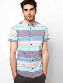 Farah Vintage Shirt With Horizontal Stripe