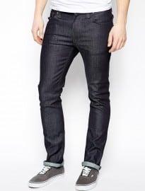 Nudie Jeans Thin Finn Slim Fit Organic Dry Dark Grey Wash