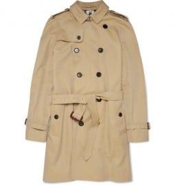 Burberry London Cotton-gabardine Trench Coat