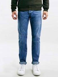 Topman Ltd - Jean fuselé slim en sergé cassé bleu