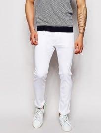 Jean slim stretch blanc Sisley