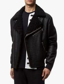 Mcq Alexander Mcqueen Shearling Biker Jacket