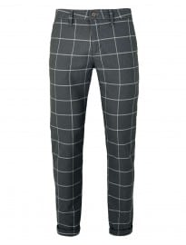 Topman Grey Oversized Check Stretch Skinny Chinos