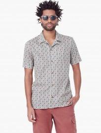 He By Mango Slim-fit Short-sleeve Printed Shirt