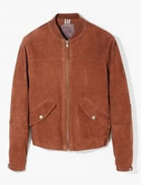He By Mango Suede Bomber Jacket
