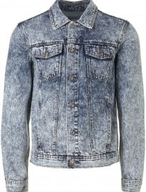Topman Acid Wash Blue Denim Western Jacketet