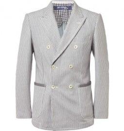 Junya Watanabe Slim-fit Cotton-blend Blazer
