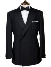 Black Wool Double Breasted Dinner Jacket