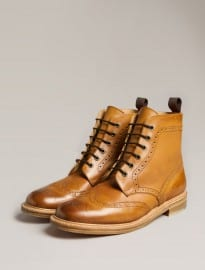 Redwick Leather Brogue Boot