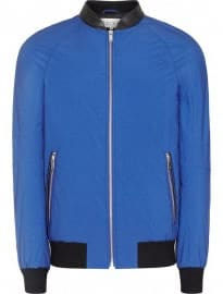 Reiss Cannes Bomber Jacket Bright Blue