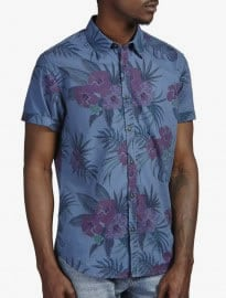 Burton - Chemise à imprimé floral bleu