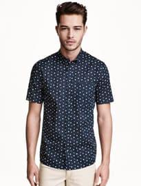 Chemise en coton à manches courtes H&M