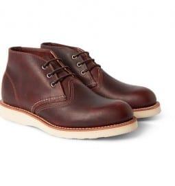 Chaussures Red Wing Chaussures en cuir à semelle en caoutchouc Chukka