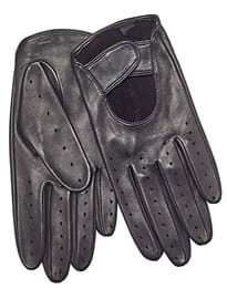John Lewis Leather Driving Glove Black