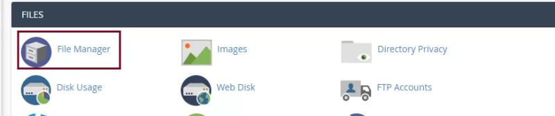 uploading html file to File Manager of your domain