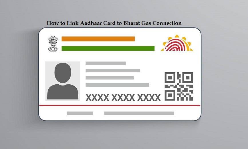 bharat gas connection aadhar card