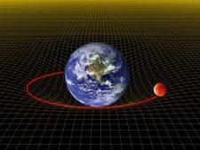 Effetto strizzamento dello spazio tempo della Terra