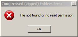 File not found or no read permission.
