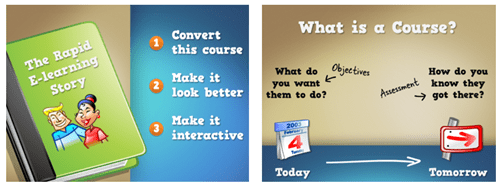 Articulate Rapid E-learning Blog - free people icons used in presentations