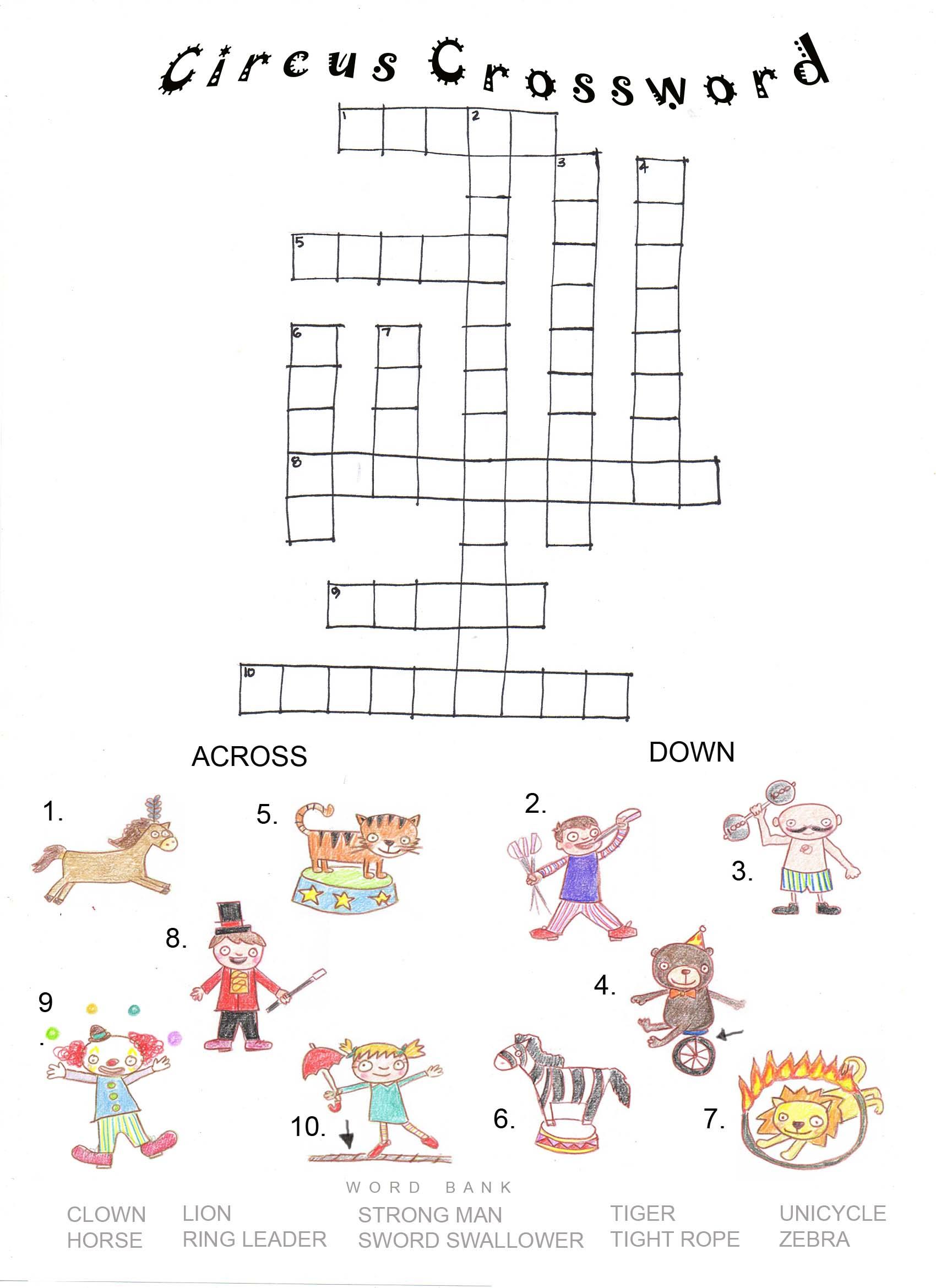 Circus Crossword