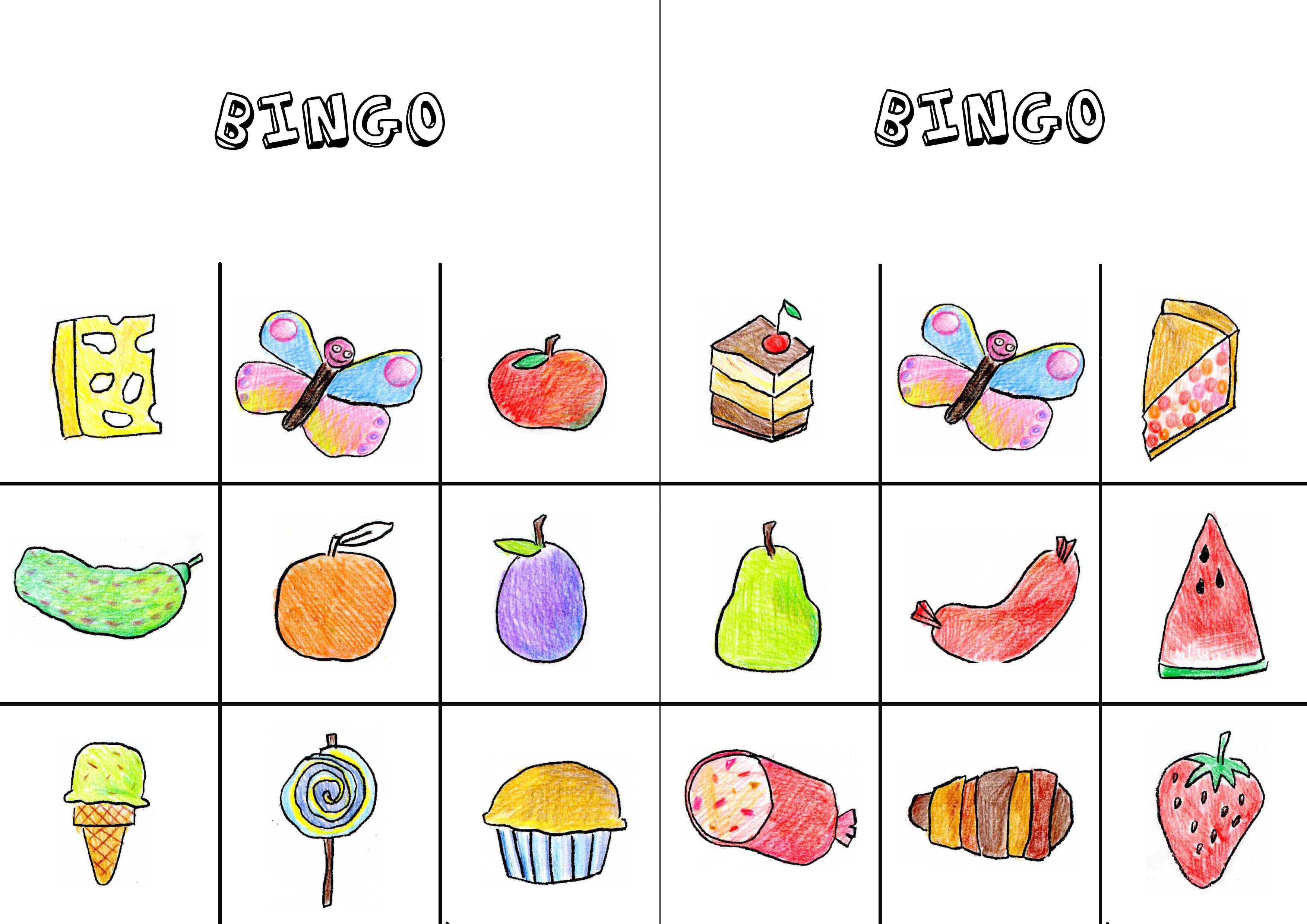 The Very Hungry Caterpillar Bingo