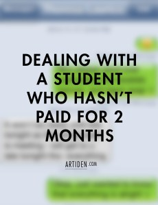 Dealing With a Student Who Hasn't Paid (But is Training for an Important Performance)