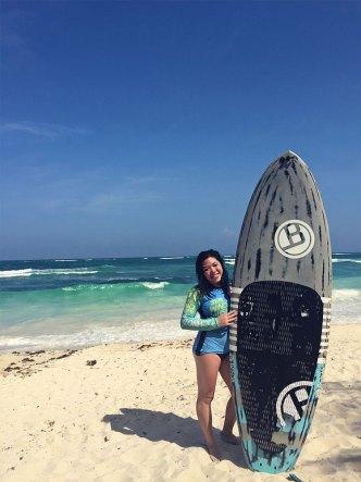 Surfboard shot.