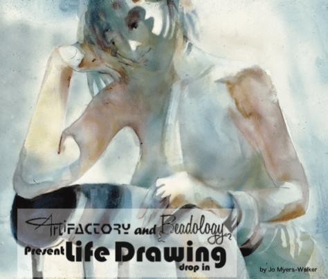 Life Drawing by Jo Meyer-Walker