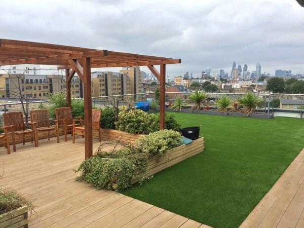 rooftop terrace garden Artificial Grass Terrace Garden & Roof Top Garden