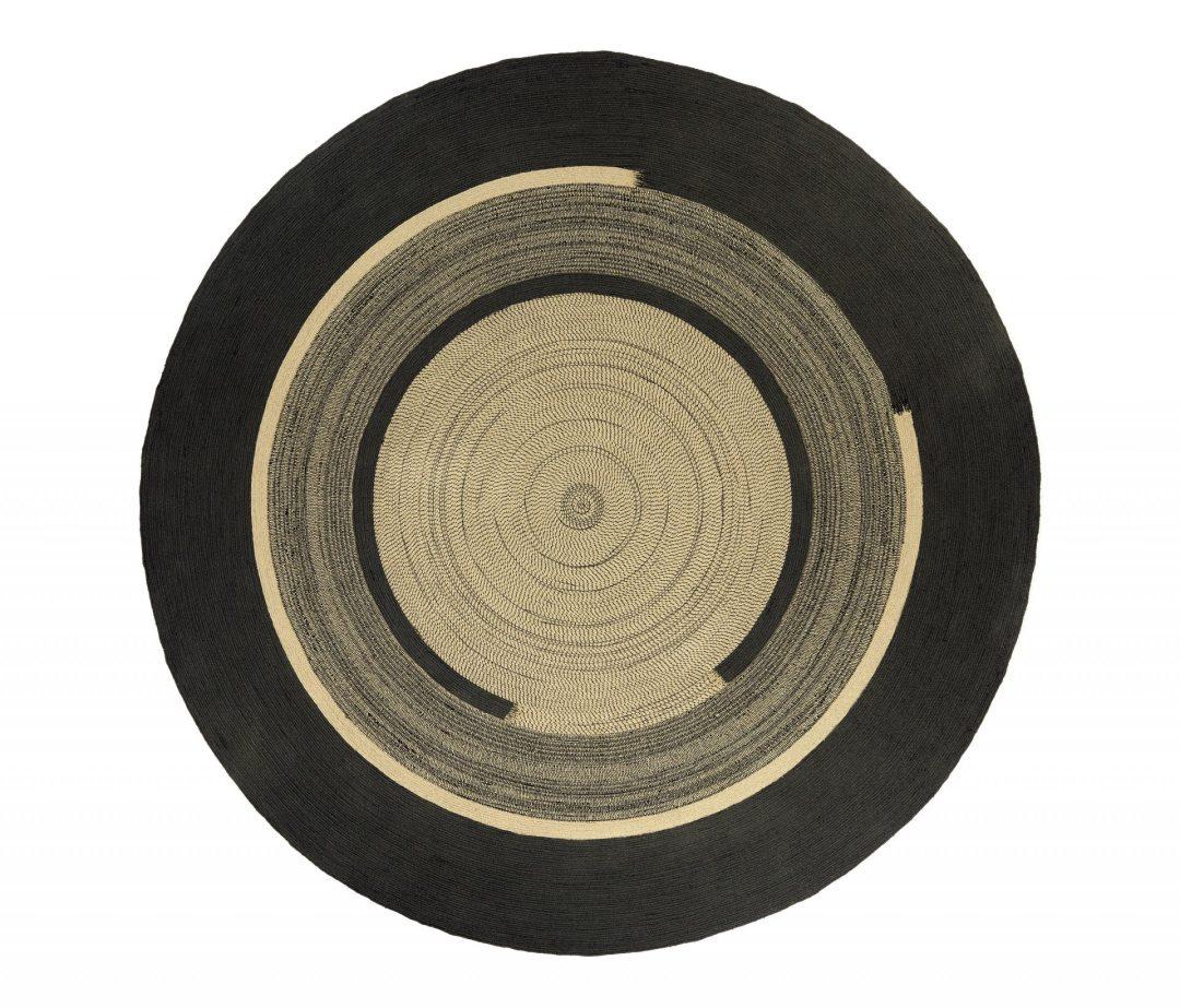 Tapis Disco Graphite Rond 300cm