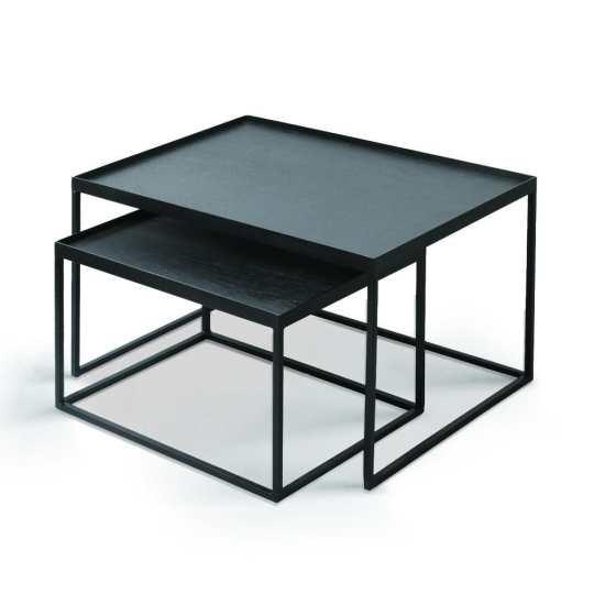 Set de tables basses pour plateau rectangulaires