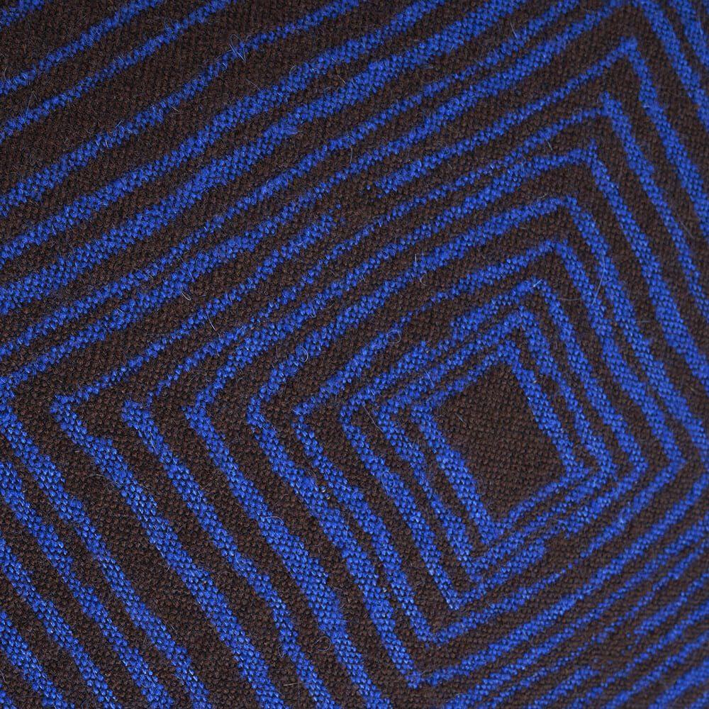 Coussin carré linéaire marron