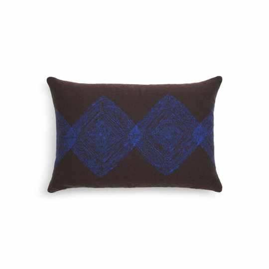 Coussin Brown Linear Diamonds - lombaire