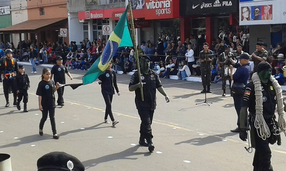 Se realizó en la ciudad de Quarai el desfile por la independencia brasileña