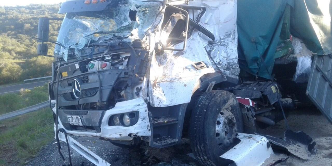 Falleció joven camionero artiguense en brutal choque en Bajada de Pena
