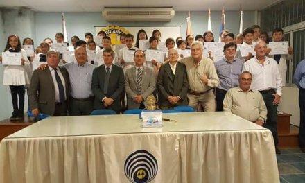 Rotary entregó el reconocimiento al mejor compañero