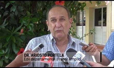 Moción presentada por el edil del partido Demócrata Cristiano Dr.Ariosto Portela en la ultima sesión de la Junta Departamental del año 2017 y aprobada por unanimidad