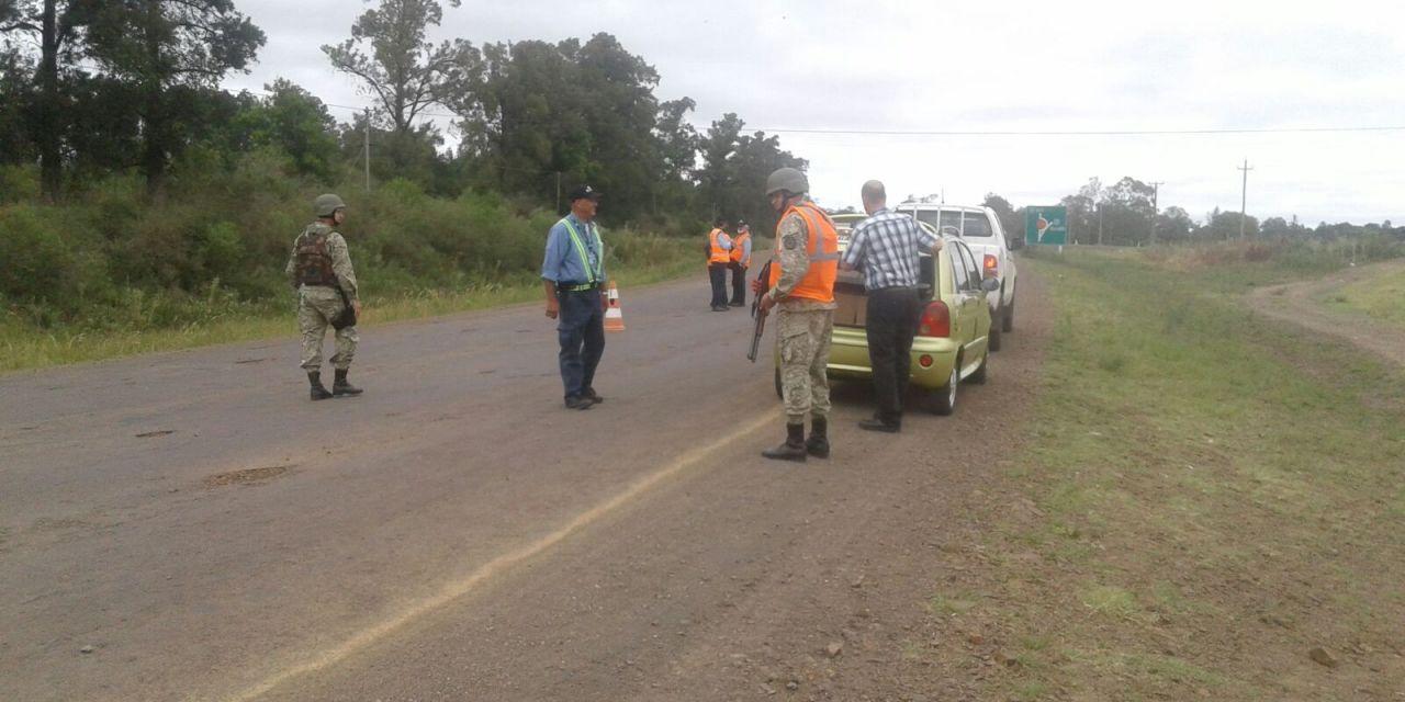 El MGAP mediante barrera sanitaria con apoyo del Ejercito  realiza controles en rutas 30 y 4