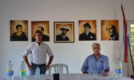 EL SENADOR LACALLE POU JUNTO AL EX DIPUTADO GONZALO MUJICA VISITARON ARTIGAS DURANTE ALGUNAS HORAS