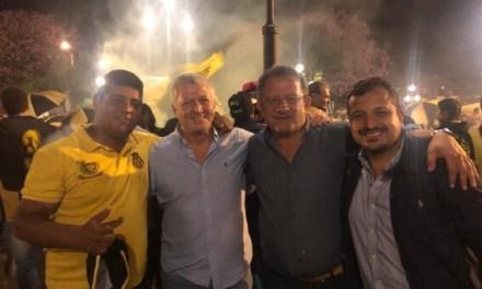 VICE PRESIDENTE DE PEÑAROL PARTICIPÓ DE LOS FESTEJOS AURINEGROS POR UN NUEVO ANIVERSARIO EN ARTIGAS.