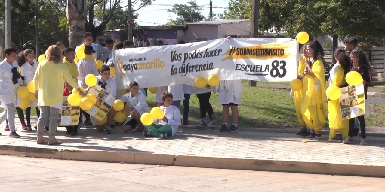 """ESCUELAS DE BARRIO AYUI REALIZARON JORNADA DE SENSIBILIZACIÓN POR EL MES """"MAYO AMARILLO"""""""